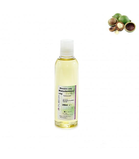 Přírodní masážní olej PURELIA  makadamiový